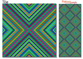Beautiful abstract multi colored seamless pattern ,multi-colored vertical concentric diagonal lines, zigzag and tilt,slanted square pattern.