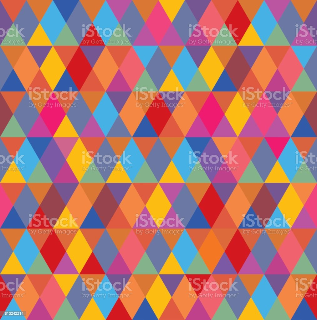 Multi Colored Diamond Pattern Seamless vector art illustration