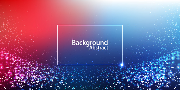 Multi colored digital particles glowing background