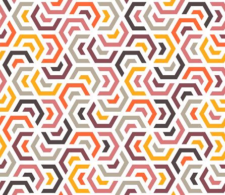 Multi Colored Geometric Grid Pattern Background