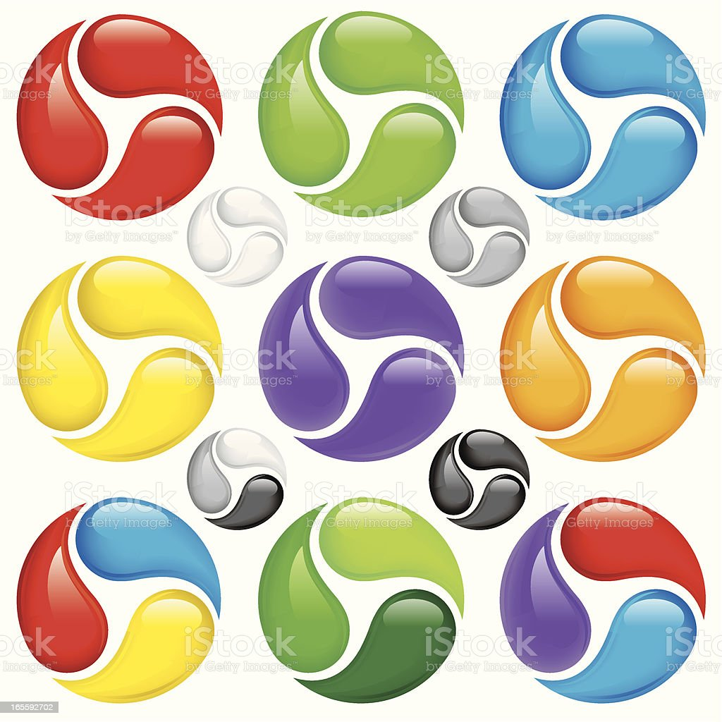 Multi Colored Spirals royalty-free multi colored spirals stock vector art & more images of blob