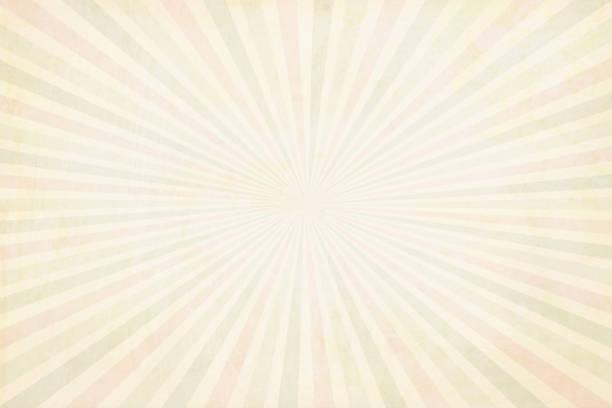 multi farbe (blass rot, hellgrün und beige) blass gelblich sunburst - vektor hintergrund - illustration - pastellgelb stock-grafiken, -clipart, -cartoons und -symbole