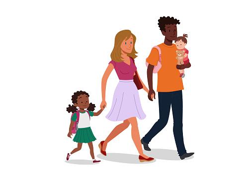 Multi ethnic family