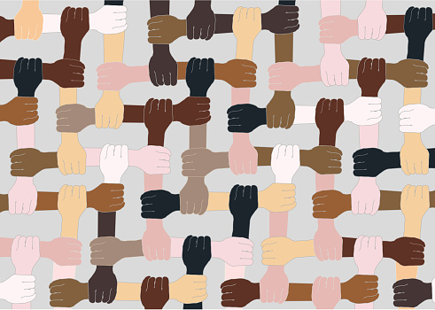 Multi ethnic world. Skin colors