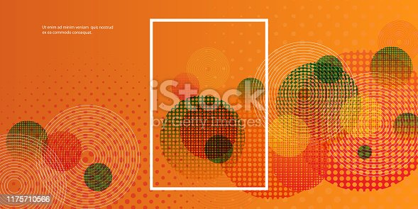 Abstract Colorful Modern Styled Background Design with Movable Frame - Design Concept in Editable Vector Format