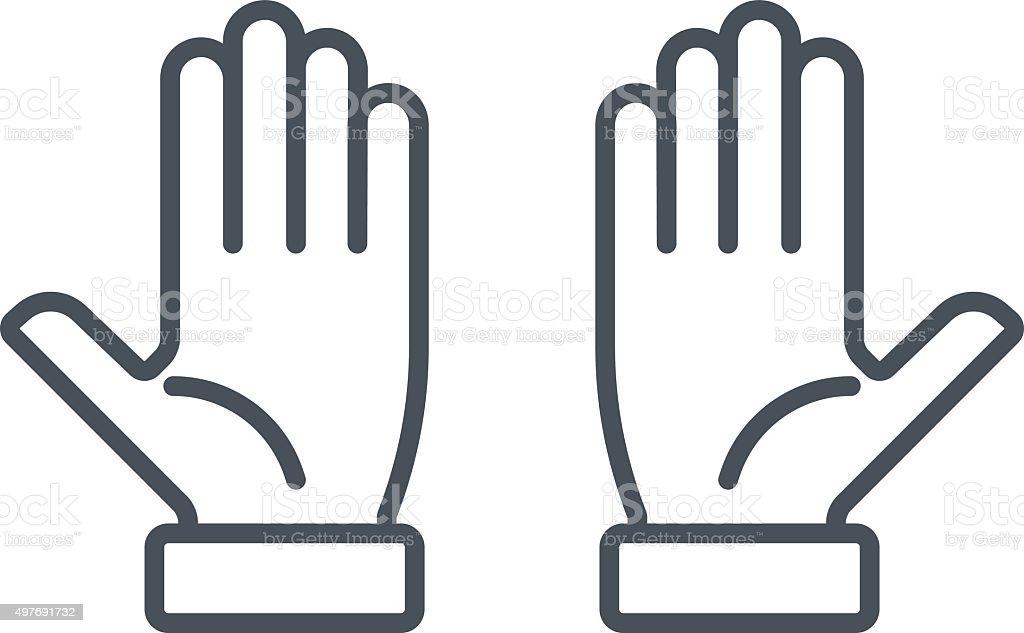 Multi touch, hand, finger, gesture icon vector art illustration
