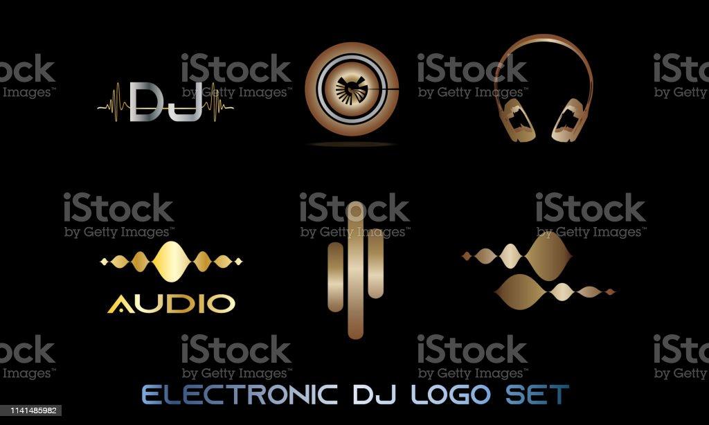 Multi Vectors Pack Set Audio Dance Dj Music Logo Concept Sound Wave