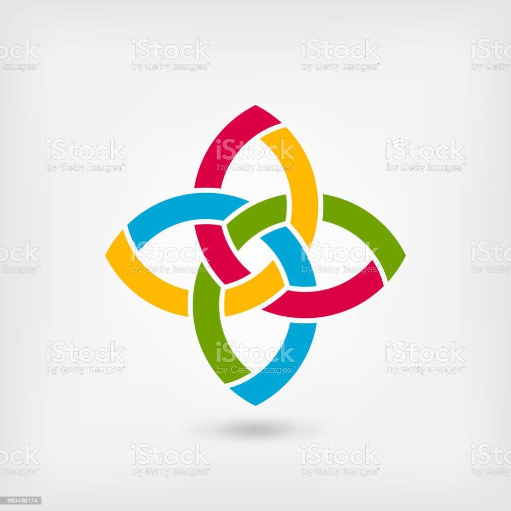 multicolor abstract intertwining symbol - Grafika wektorowa royalty-free (Abstrakcja)