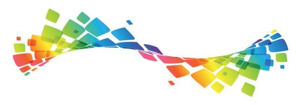 Multicolor-Kurve, winkte Regenbogen Linien – Vektorgrafik