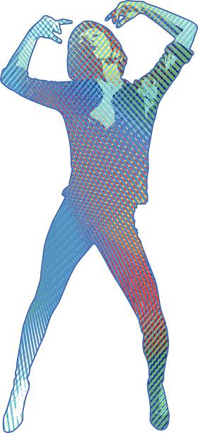 Multicolor Dancing Woman