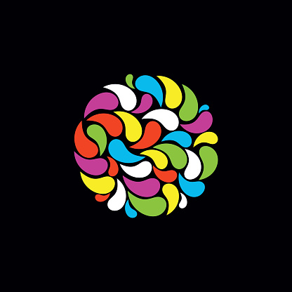 Multicolor drops vector illustration