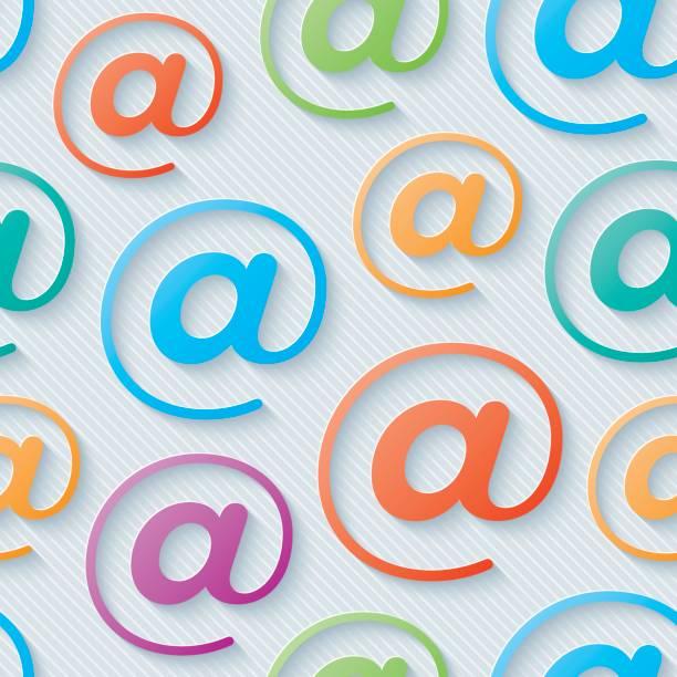 Multicolore e-mail symboles sans soudure motif de papier peint. - Illustration vectorielle