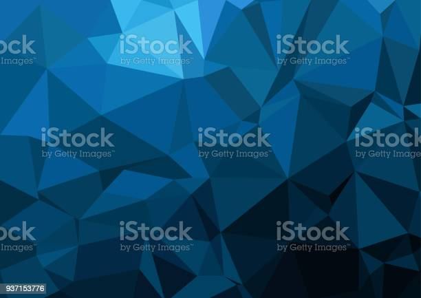 Vetores de Multicolor Amarrotada Geométrica Triangular Poli Baixo Estilo Gradiente Ilustração Gráfica De Fundo Desenho Poligonal De Vetor Para O Seu Negócio e mais imagens de Abstrato
