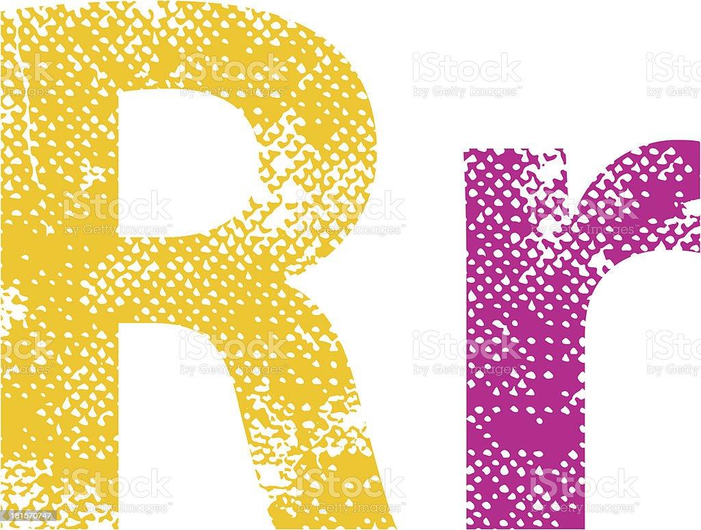 Multicolor grunge letter. royalty-free multicolor grunge letter stock vector art & more images of alphabet