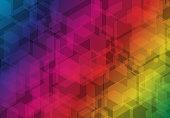 Multicolor hexagon futuristic business overlay background. Vector illustration