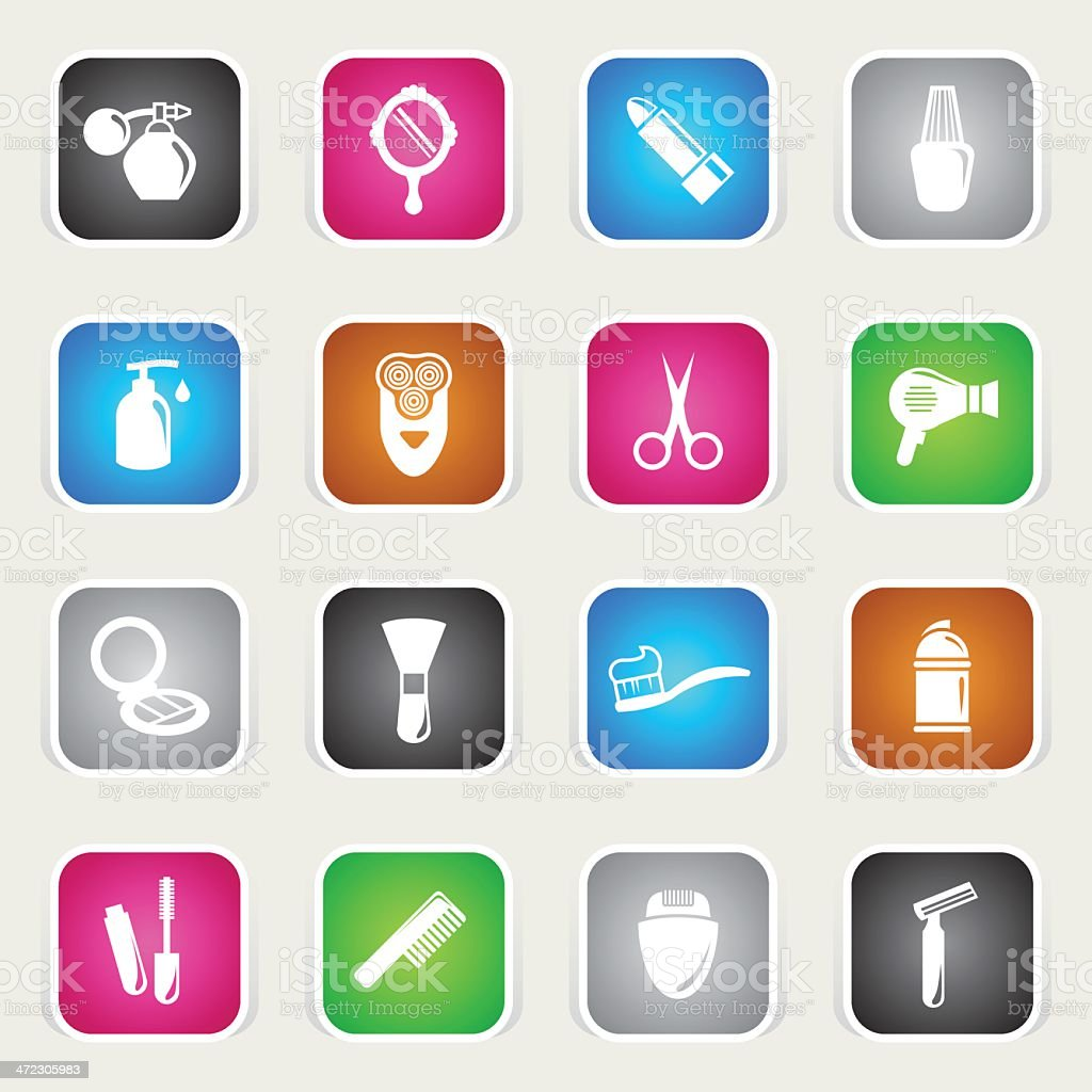 Multicolor Icons - Cosmetics royalty-free multicolor icons cosmetics stock vector art & more images of beauty product