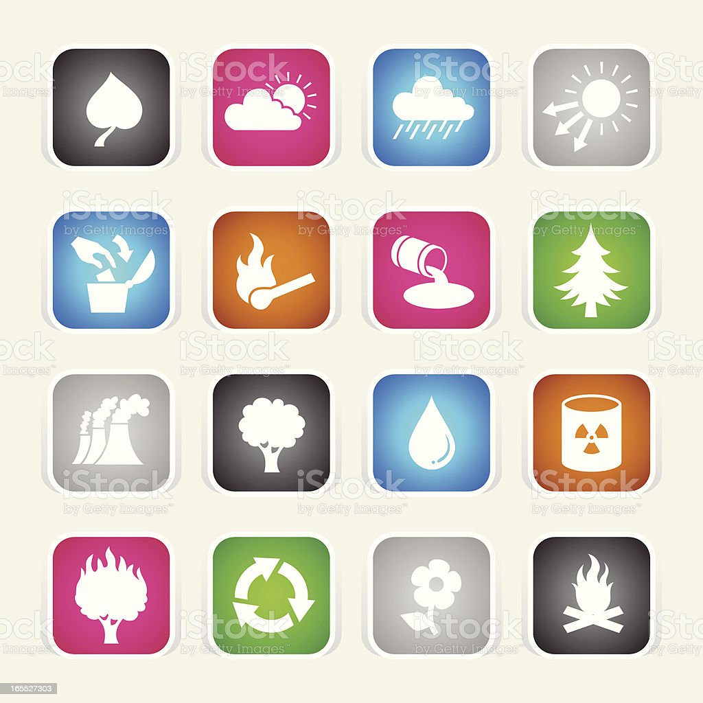 Multicolor Icons - Eco royalty-free stock vector art