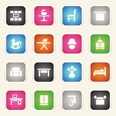 Multicolor Icons - Furniture Categories