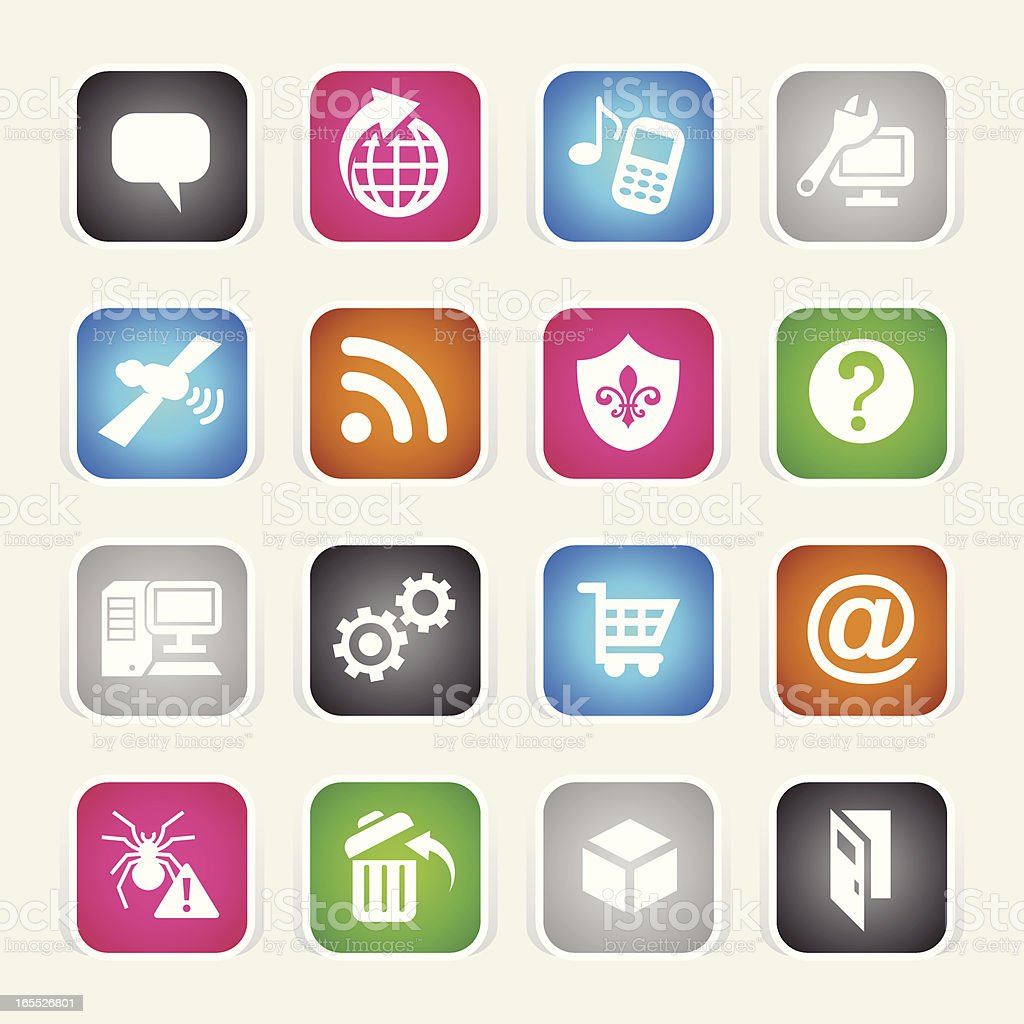 Multicolor Icons - Internet royalty-free stock vector art