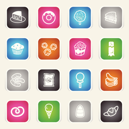 Multicolor Icons - Junk Food