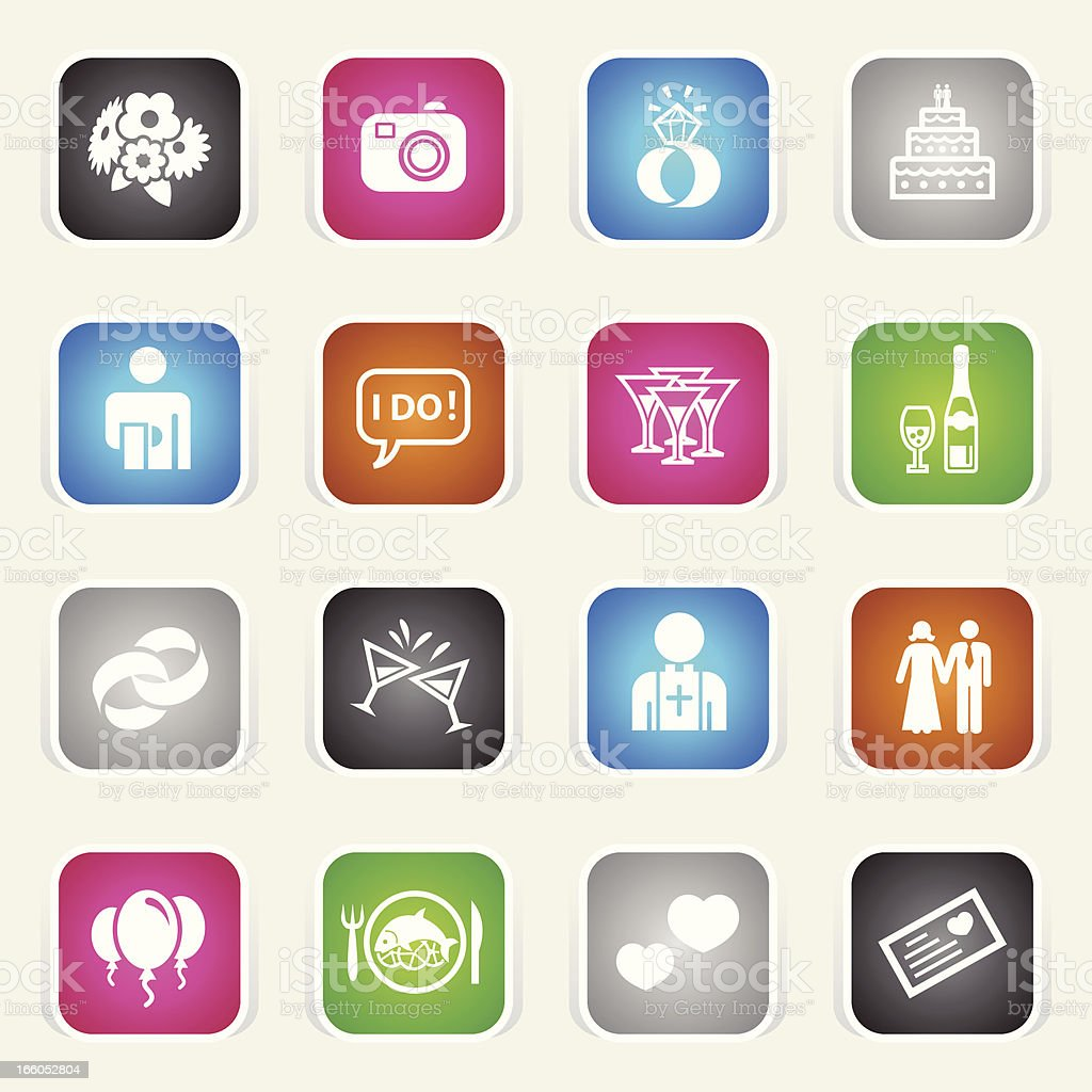 Multicolor Icons - Marriage royalty-free stock vector art