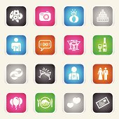 Multicolor Icons - Marriage
