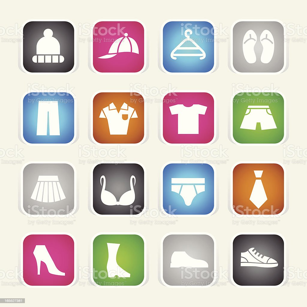 Multicolor Icons - Outfit royalty-free stock vector art