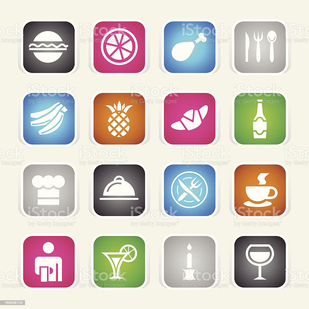 Multicolor Icons - Restaurant royalty-free stock vector art