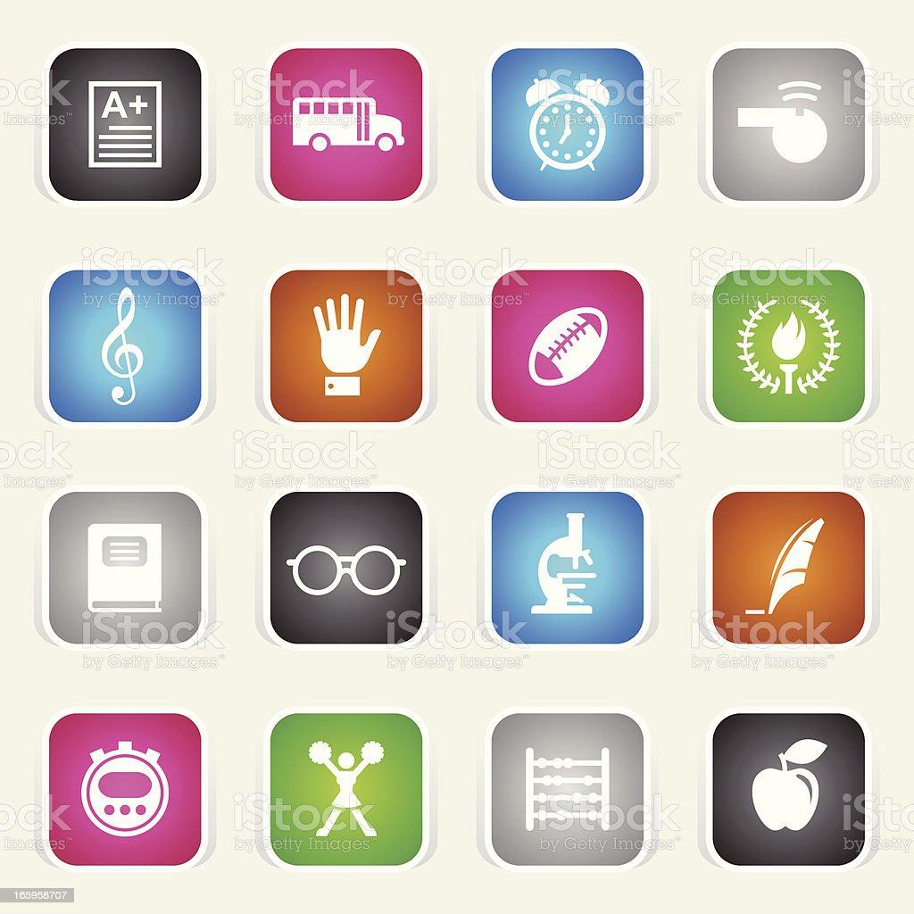 Multicolor Icons - School royalty-free stock vector art