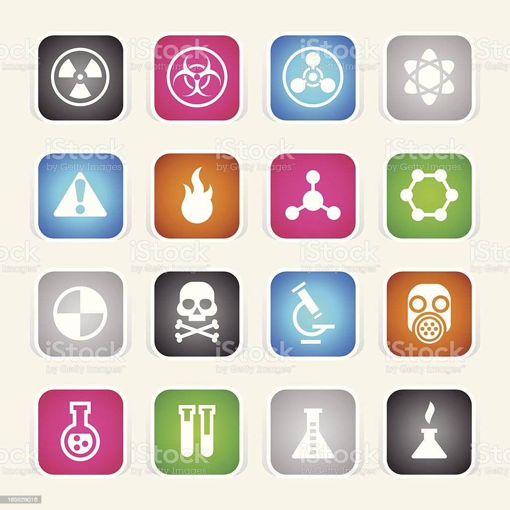 Multicolor Icons - Science royalty-free stock vector art
