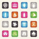 The icons were created using flat shapes, linear and radial gradients.