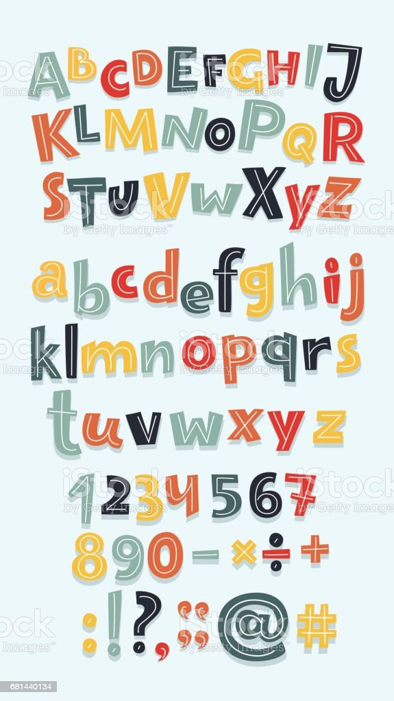 Multicolor letters set royalty-free multicolor letters set stock vector art & more images of alphabet