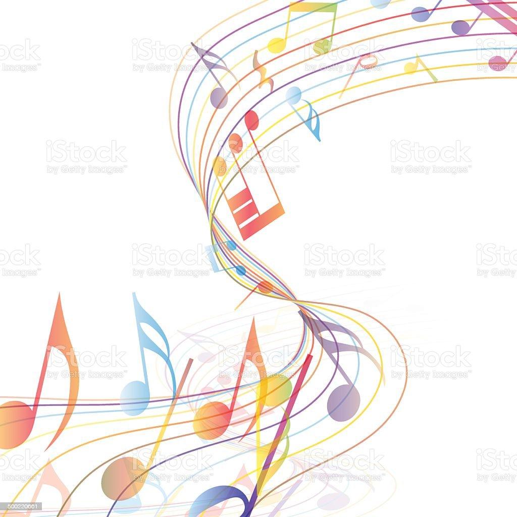 Multicolor musical vector art illustration