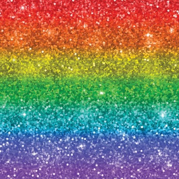 multicolor rainbow glitter background. vector - rainbow glitter background stock illustrations