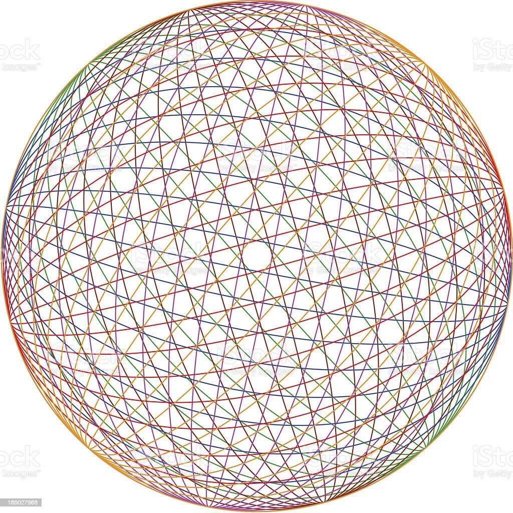 Multicolor sphere (eps) vector art illustration