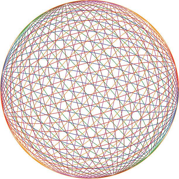 Multicolor sphere (eps) Multicolor sphere. crisscross stock illustrations