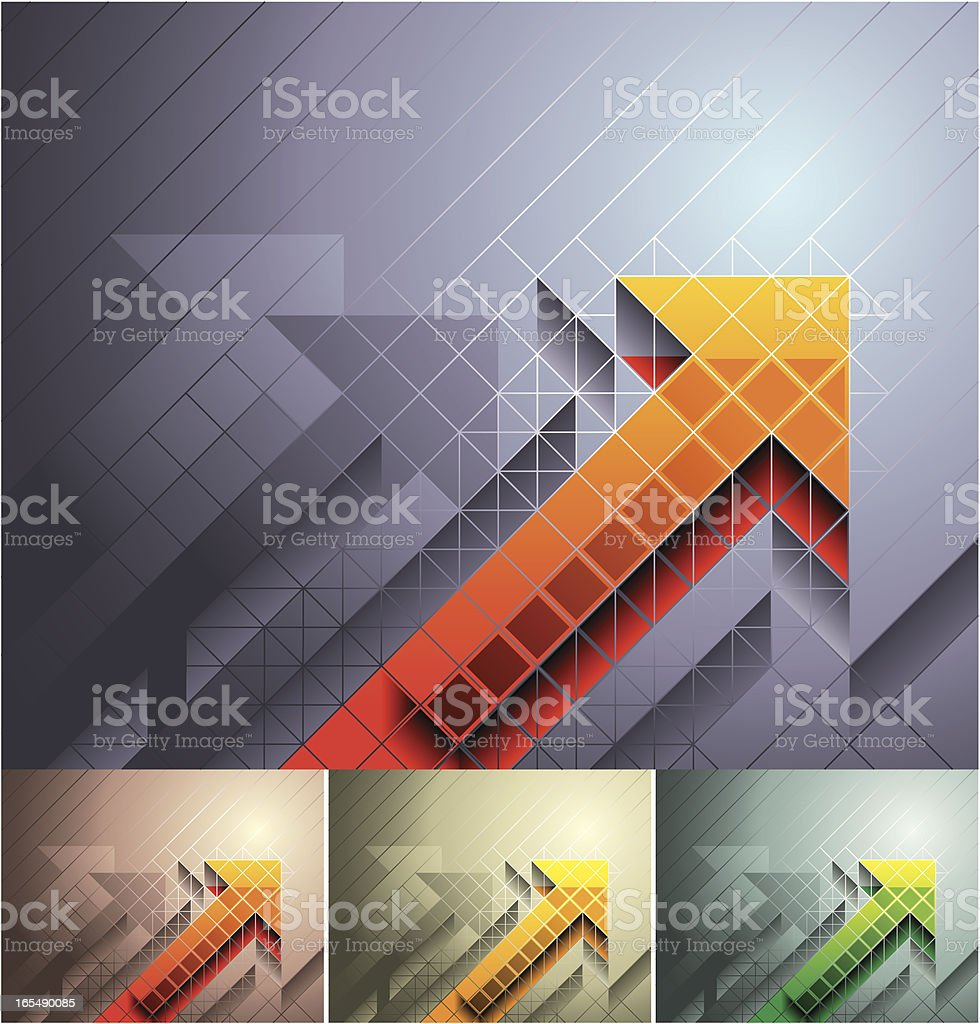 Multicolor three dimensional arrows graph royalty-free multicolor three dimensional arrows graph stock vector art & more images of analyzing