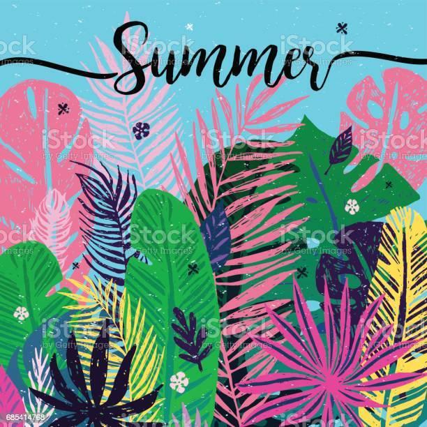 Multicolor trendy tropical summer background exotic leaves vector id685414768?b=1&k=6&m=685414768&s=612x612&h=4bdk1yrvxf 075fi1k zql5c 9raoqdpa1hisw 3wke=