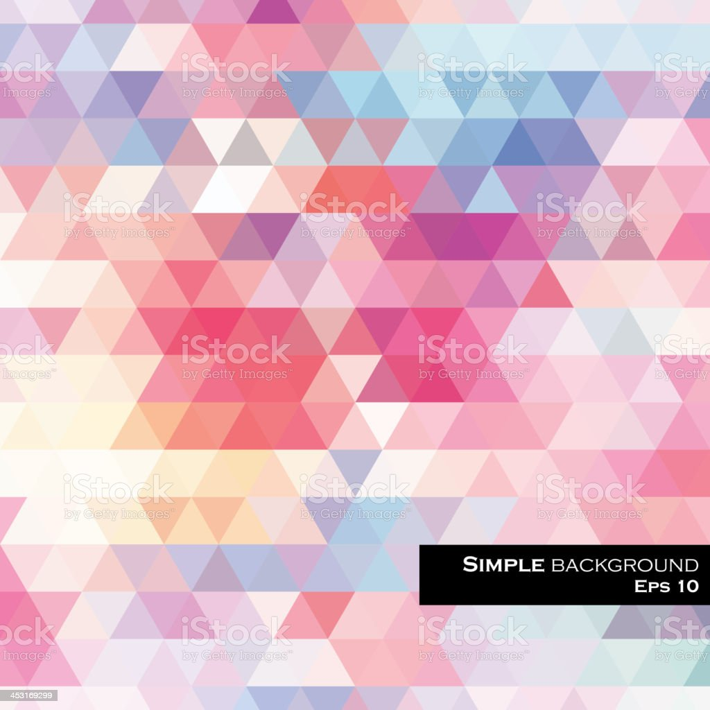 Multicolored abstract background with triangular tesselation royalty-free stock vector art