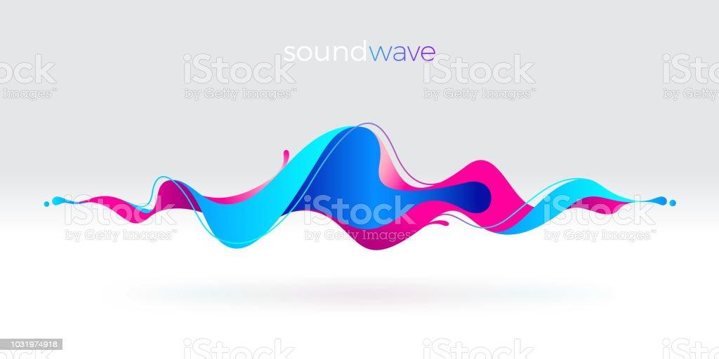 Multicolor abstrait onde sonore fluide. Illustration vectorielle. multicolor abstrait onde sonore fluide illustration vectorielle vecteurs libres de droits et plus d'images vectorielles de abstrait libre de droits