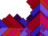 Multicolored abstract geometric shapes, geometry background for web banner, business presentation, ads package, print template, wallpaper