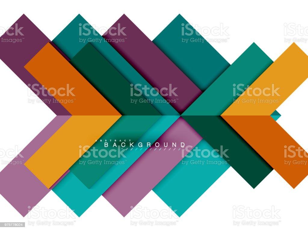 Bunte abstrakte geometrische Formen, Geometrie Hintergrund für Web-banner - Lizenzfrei Abstrakt Vektorgrafik