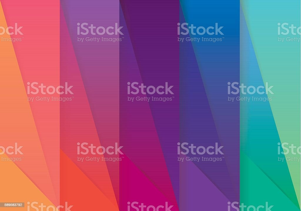 Multicolored abstract wallpaper pattern in material design style vector art illustration