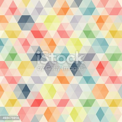 Multicolored angular wattled pattern background. Geometric bonded retro mosaic.