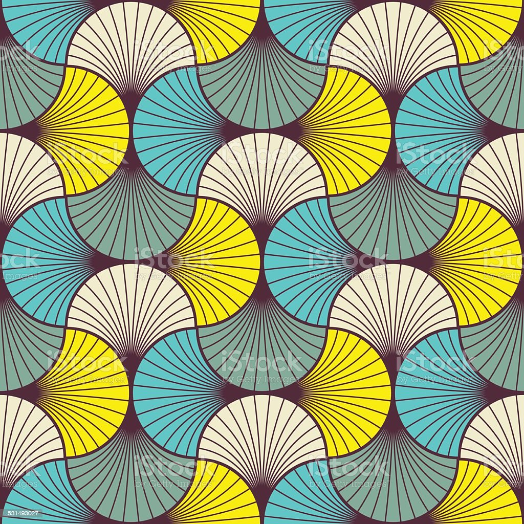multicolored art deco pattern vector art illustration