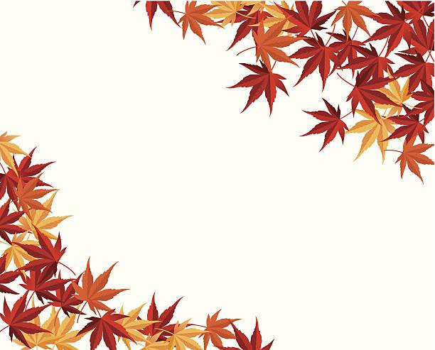 Herbstliche Ahorn Blatt Hintergrund Vektor – Vektorgrafik