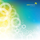 Vector of circle shape and glowing lights abstract theme with multi-colored background. This illustration is an EPS 10 file and contains transparency effects.
