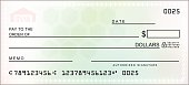 Multicolored Blank Check - VECTOR