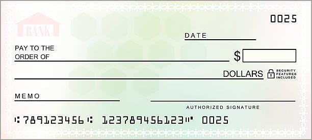 Multicolored Blank Check - VECTOR Multicolored Blank Check Illustration financial bill stock illustrations