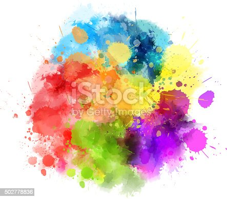 Multicolored watercolor splash blot. eps10 - contains transparencies.
